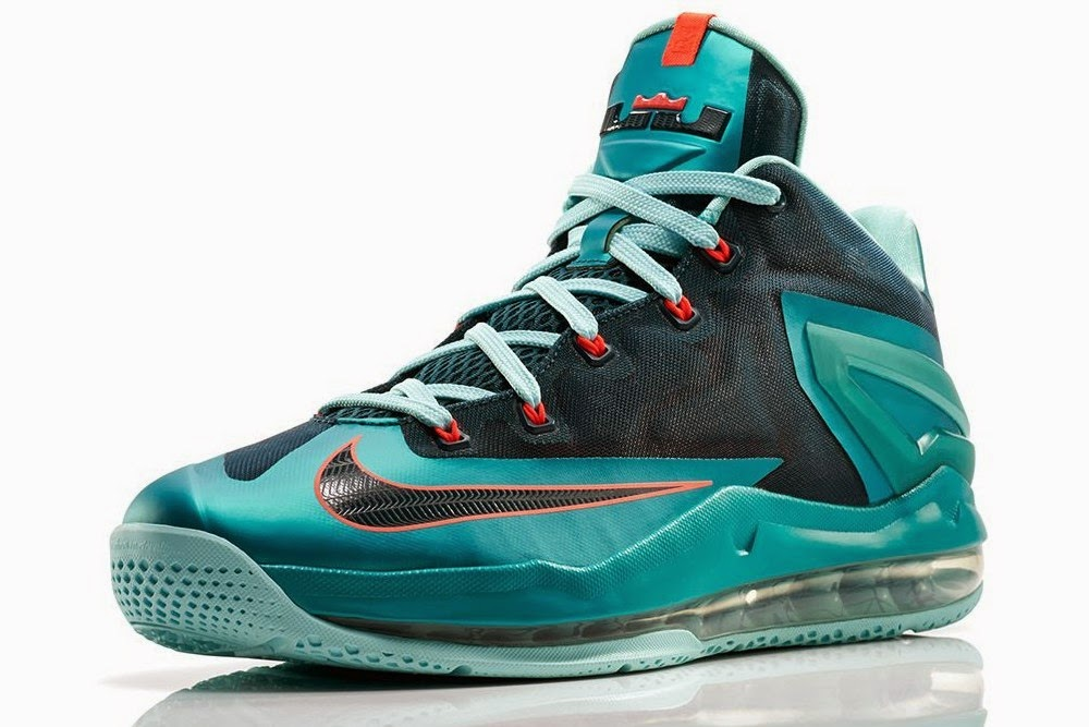 "... Nike Max LeBron XI Low ""Turbo Green"" Release Information"