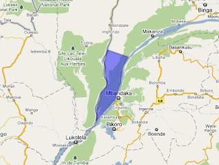 Bikoro-Bomongo-Makanza, le triangle de la nouvelle réserve naturelle dans la province d'Equateur.