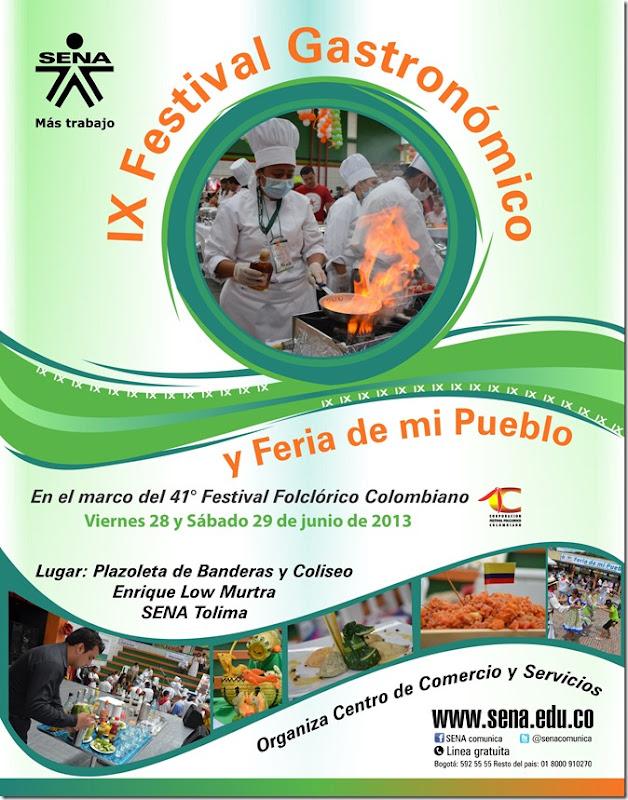 lX Festival Gastronomico - Afiche2