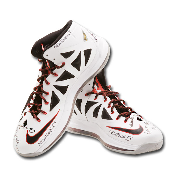 LeBron8217s Gameworn Shoes Auctioned to Benefit Newtown Families