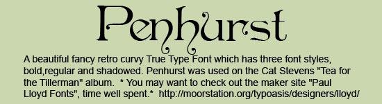 Penhurst-Font