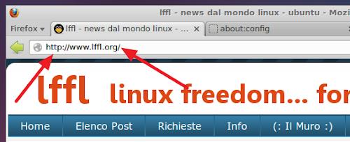 Firefox barra indirizzi con http e slash ripristinati