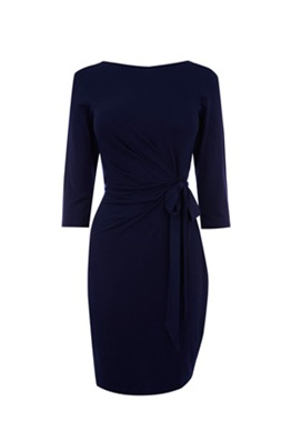 WHRouched wrap dress