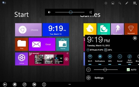 windows 8 metro android transformer Prime
