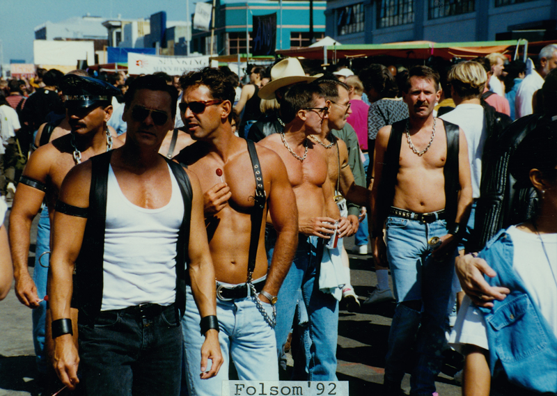 Crowd shot at the Folsom Street Fair, promoted as the largest leather event in the world, on Folsom Street in San Francisco. 1992.
