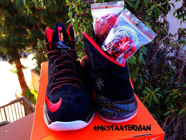 Nike Sportswear8217s LeBron X EXT 8220Miami Heat8221 Black Suede