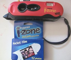 Polaroid camera i-zone w film