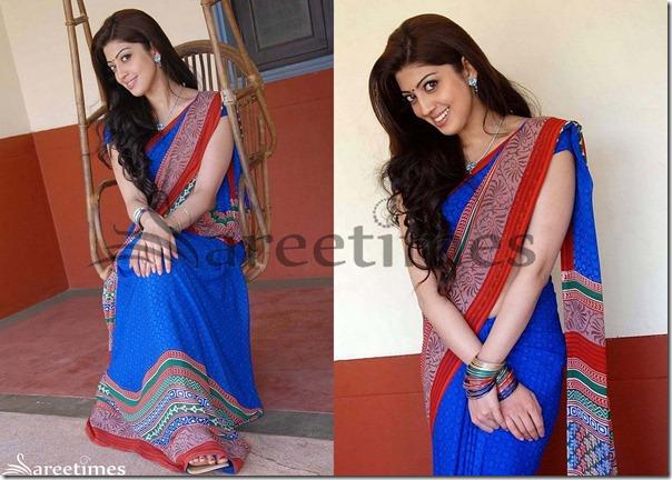 Praneetha_Blue_Designer_Saree