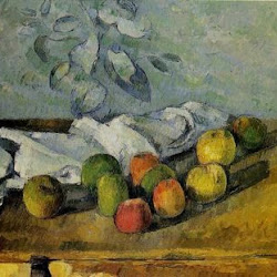 Paul Cezanne (1879-1880): Pommes et Serviette. Yasuda Kasai Museum of Art. Shinjuku. Japan. Postimpresionismo