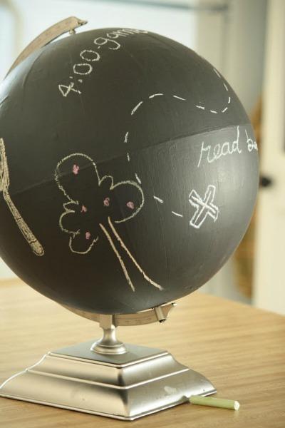 diy chalkboard paint globe