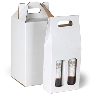 If you have several wine bottles to send people home with, then these Container Store wine carriers are perfect for the job. The see-through window also makes it easy to see which wine is in specific cases.