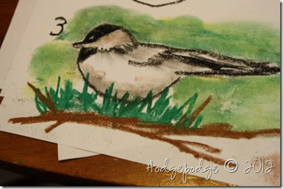 Chicadee pastel tutorial