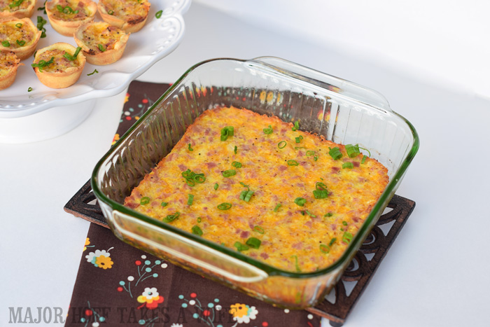 Crustless Quiche that is naturally gluten free Recipe for Ham  cheese crustless quiche