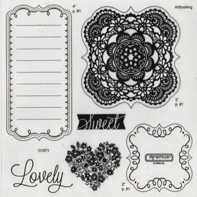Artbooking_Sweet and Lovely stamp set image