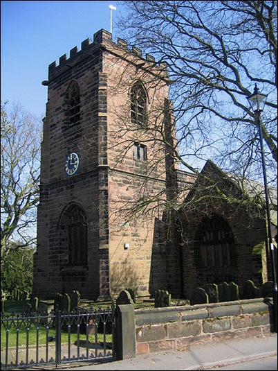 Daresbury church tower