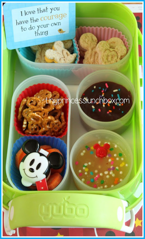 We LOVE our Yubo lunch box with some added Lunchbox Love! #Yubo #Lunchbox_Love #schoollunchideas #bento #mickey #lunch