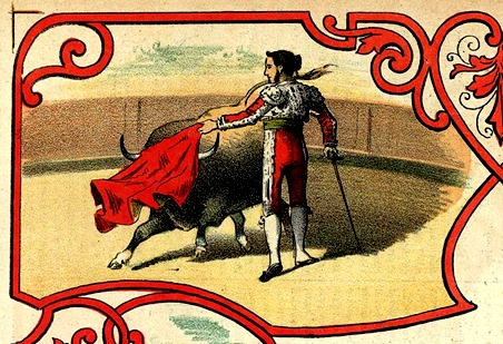 La lidia lám. detalle (1883-03-30) Natural de Cayetano Sanz
