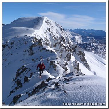 Arista Este al Peyreget 2487m y Corredor Este con esquis (Portalet) (Fede) 0042