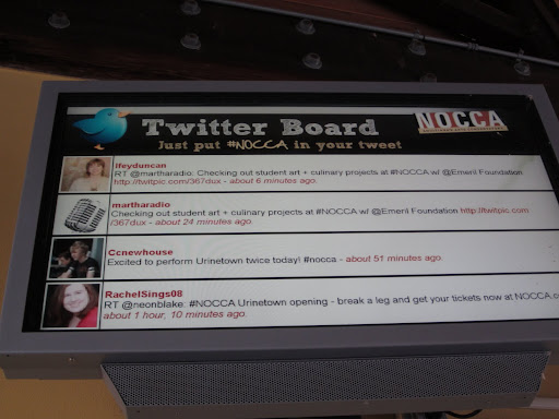 NOCCA encourages using the latest technology.  I couldn't resist getting on the Twitter Board!