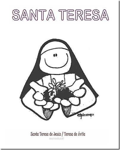 SANTA TERESA COLOREAR 5 1