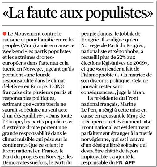 populisme commentaire