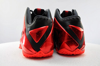 nike lebron 11 gr black red 5 04 Detailed Look at Nike LeBron XI Miami Heat Away