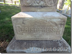 Gravemarker for the Michael C. Christopherson Family