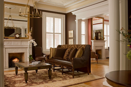 Front Parlor Maury Place is a perfectly preserved historic property which is complemented by modern decor and furnishings. photo by Tony Giammarino