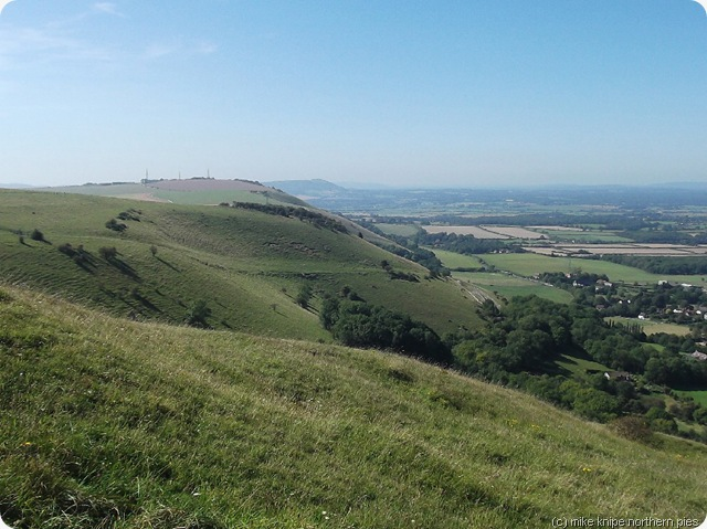 view whilst drinking beer at Devil's Dyke