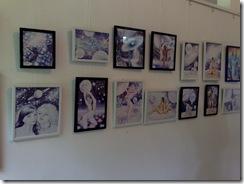 Salonul de grafica al AAPB in Herastrau desene de Corina Chirila