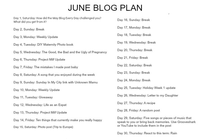 june blog plan