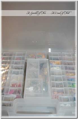 Scrapbook Embellishment Storage After {A Sprinkle of This. . . . A Dash of That}