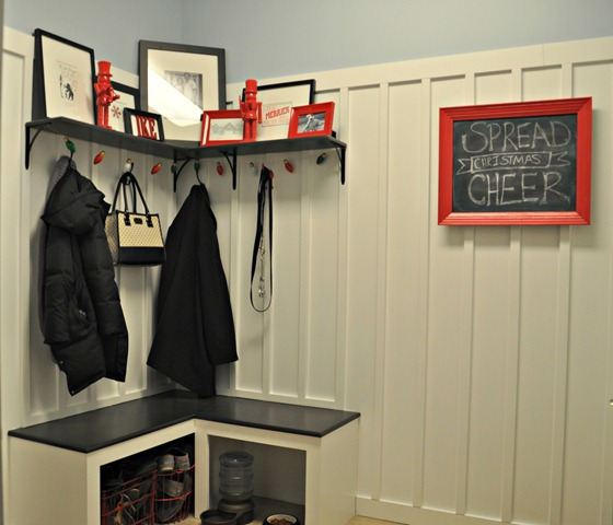 Decor and the Dog Festive Mudroom