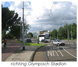 richting Olympisch Stadion