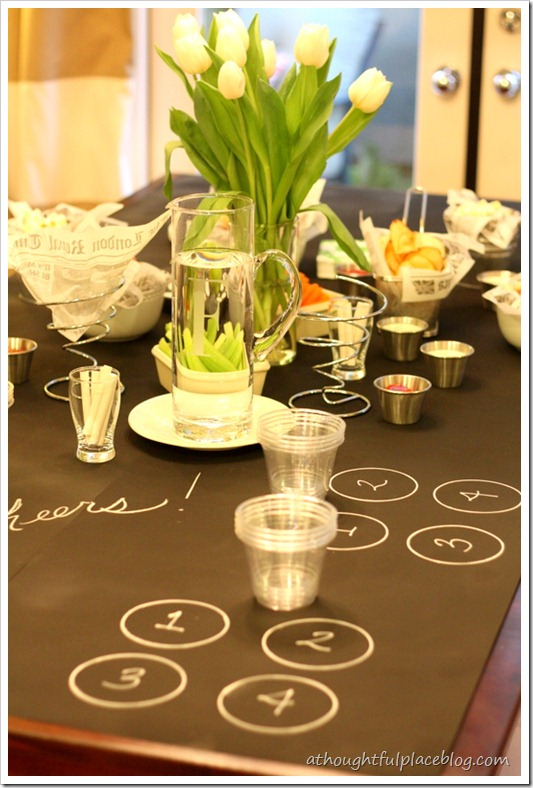 diy chalkboard tablecloth