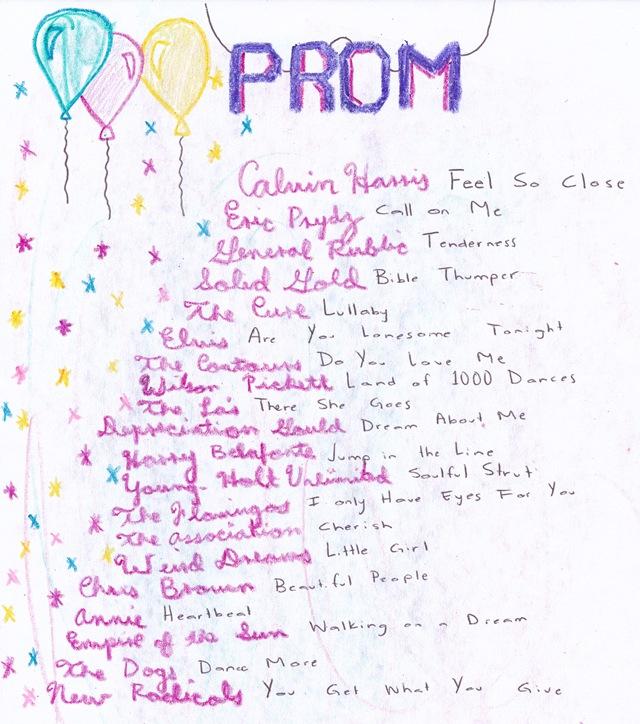 prom playlist