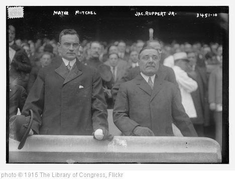 'Mayor Mitchel, Jac. Ruppert Jr., 4/22/15 (LOC)' photo (c) 1915, The Library of Congress - license: http://www.flickr.com/commons/usage/