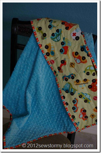 cars and trucks baby blanket