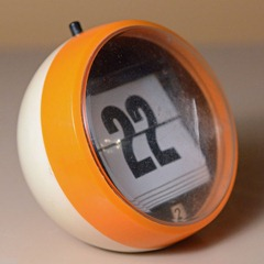 perpetual flip calendar, orange and white