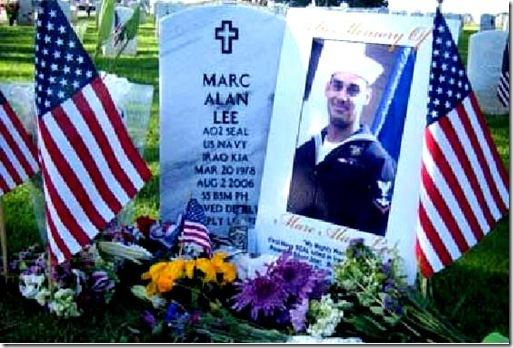 Marc Alan Lee gravesite Memorial Day 2012