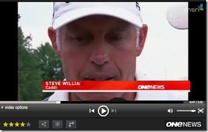 Steve Williams racist comment video