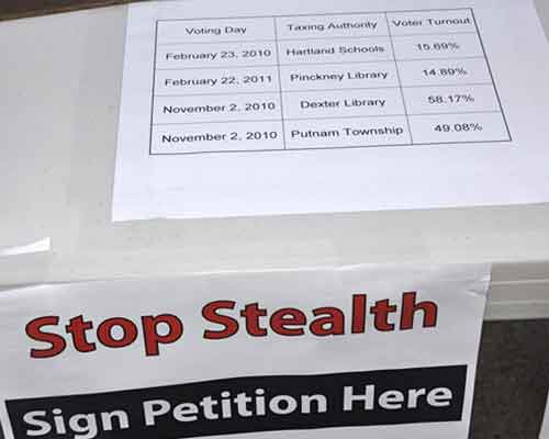 petition to stop sneaky property tax votes