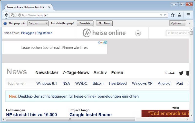 Firefox - Traduttore di Default