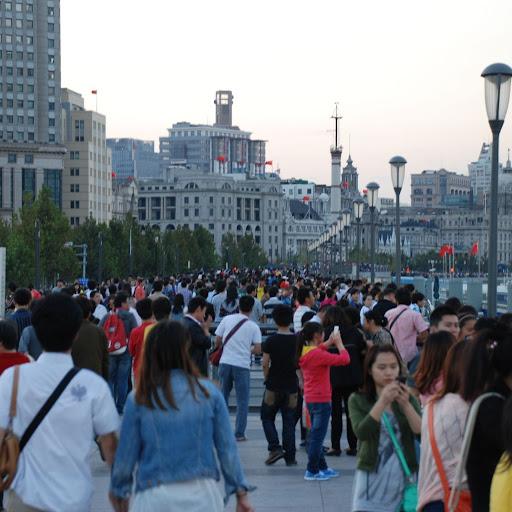 Shanghai South Bund - Marée humaine