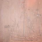 Quettehou: Graffiti Marins dans l'église St-Vigor