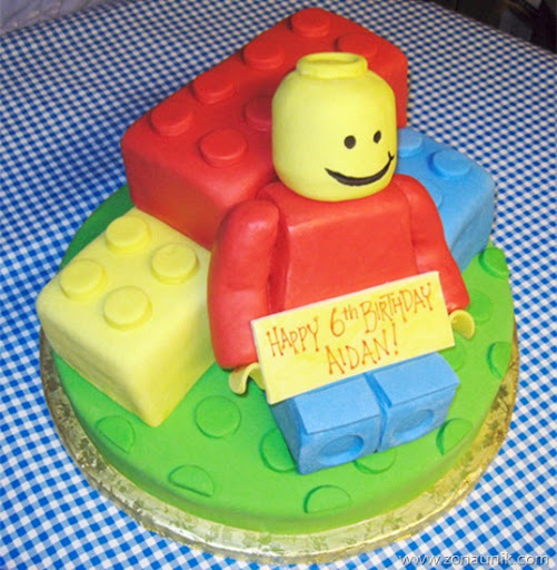 Model Kue ulang tahun berbentuk Lego