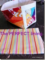 striped lining and rainbow basket - what a great pair