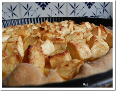 tarte pommes cassonade