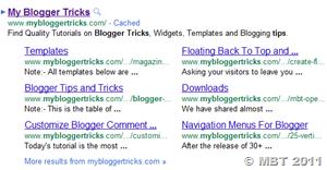 manage sitelinks display