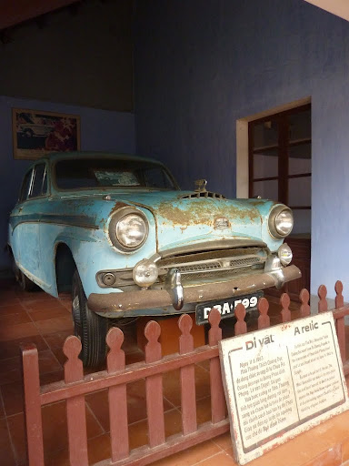 In 1963, Thich Quang Duc burnt himself to death in Saigon in protest at President Diem's repressive regime. This is the powder blue Austin from the photo that hit the headlines.